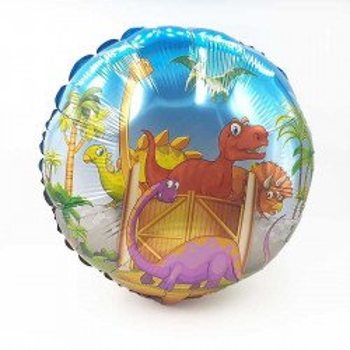 Ballon mylar rond dinosaure