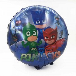 Ballon mylar rond Pyjamasques