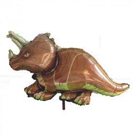 Ballon mylar dinosaure triceratops