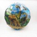 Ballon mylar rond dinosaure vert