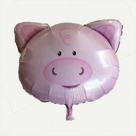 Ballon mylar tête de cochon