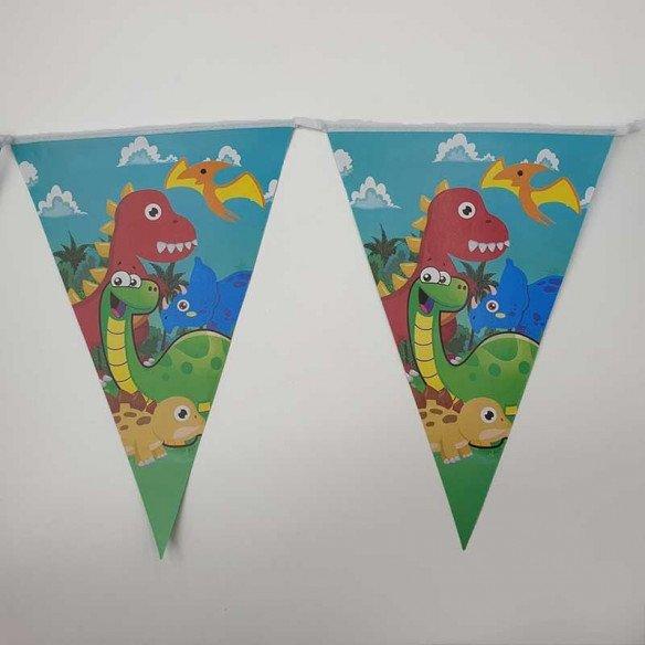 Guirlande fanion dinosaure