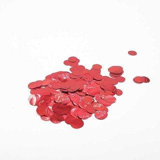 Confettis rond rouge brillant