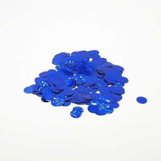 Confettis rond bleu brillant