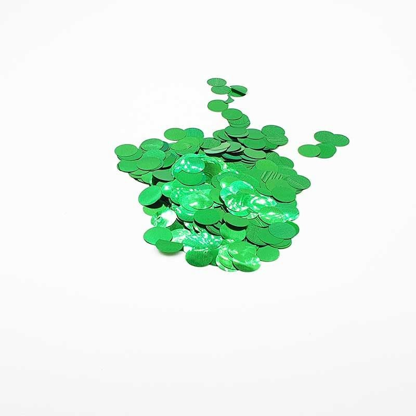 Confettis rond vert brillant