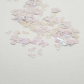 Confettis sirene Blanc nacré rose