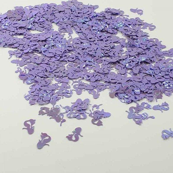 Confettis sirene parme nacré