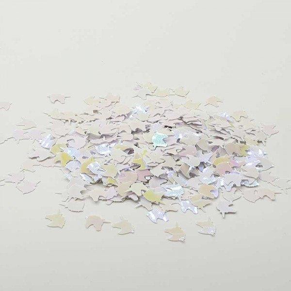 Confettis Licorne Blanc nacré rose