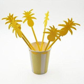 Ananas agitateur cocktail X6
