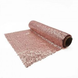 Chemin de table sequin rose gold 2.5mX28cm