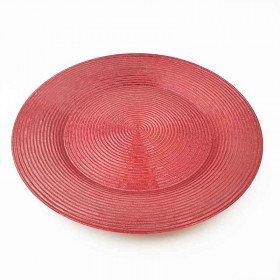 Sous assiette prestige ronde rouge 33cm