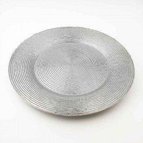 Sous assiette prestige ronde argent 33cm