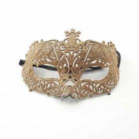 Masque de fête pailleté rose gold