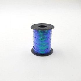 Rouleau ficelle bolduc bleu à reflet 6mmx10mètres