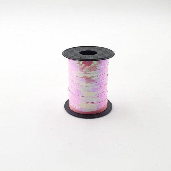 Rouleau ficelle bolduc rose à reflet 6mmx10mètres