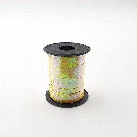 Rouleau ficelle bolduc jaune or à reflet 6mmx10mètres