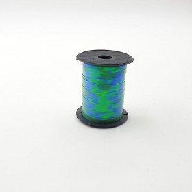 Rouleau ficelle bolduc vert à reflet 6mmx10mètres
