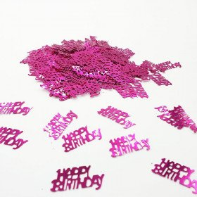Confettis anniversaire fUSHIA