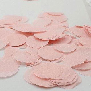 Confettis rond papier pêche (sachet de 25g)