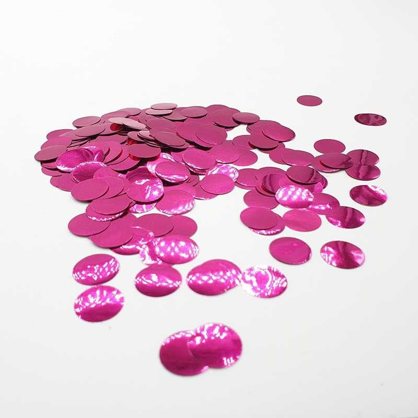 Confettis rond fushia brillant
