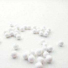 Sachet de petites boules brillantes blanche 15mm