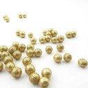 Sachet de petites boules brillantes doré 20mm