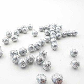 Sachet de petites boules de noel argent 2cm