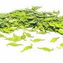 Confettis dinosaure vert anis