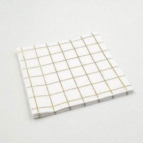 Serviette papier à carreaux or x20