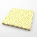 Serviette papier chevron jaune x20