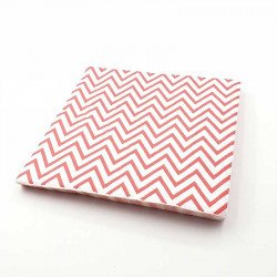 Serviette papier chevron rouge x20