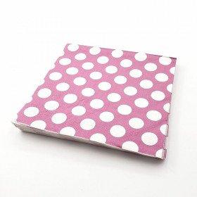 Serviette papier prune à pois x20