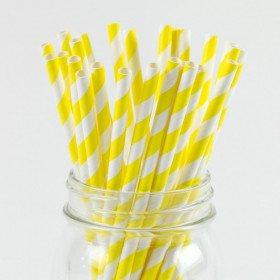 paille jaune rayéeX25