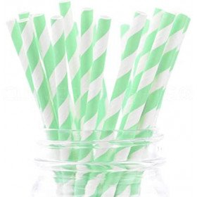 Paillesx252 rayure vert menthe