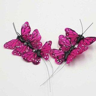 Papillon fushia sur tige