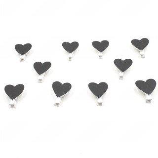 Coeur ardoise sur pince (X10)