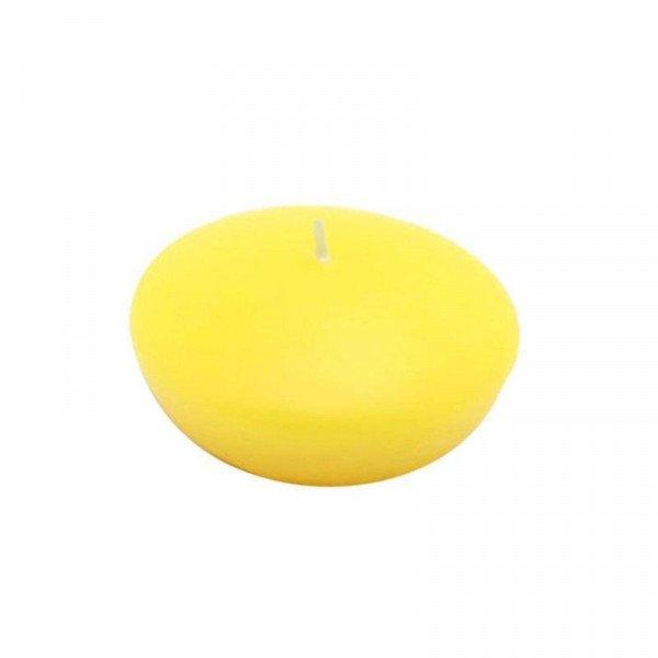 Bougie Flottante jaune (boite de 12)