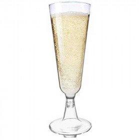 6 flûtes de champagne transparente