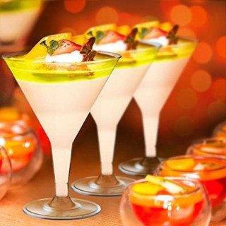 6 verres a martini transparente