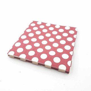 Serviette papier rouge bordeaux à pois x20