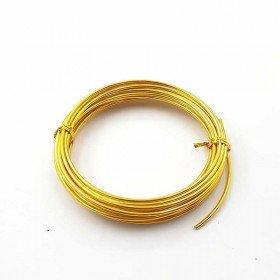 Fil aluminium doré 2mm X 5 mètres