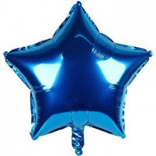Ballon étoile bleu roi mylar