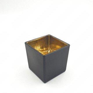 Photophore carré noir 8cmx8cm