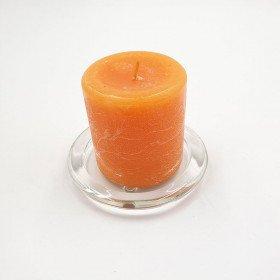 Bougie cylindrique orange