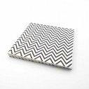 Serviette papier chevron noir x20