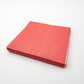 Serviette papier rouge X20