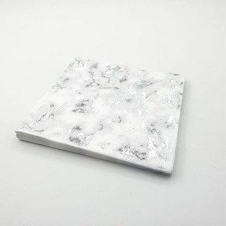 Serviette papier marbre argent x16