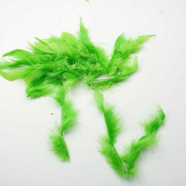 Plume souple vert anis décoration