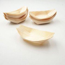 50 Pirogues bambou apéritif