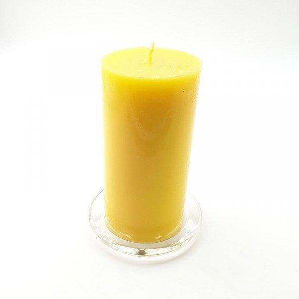 Bougie cylindrique  jaune 15cmX7.5cm